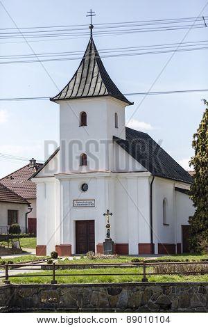 Old Village Christian Chapel Or Church In Czech Republic