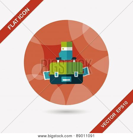 Business Bag Flat Icon With Long Shadow,eps10