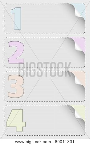 vector infographic design with four numbers