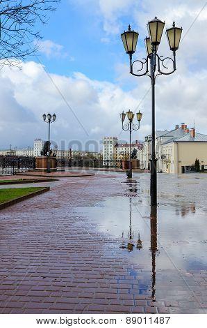 View Of The Pushkinsky Bridge In Vitebsk