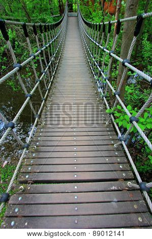 suspended bridge perspective