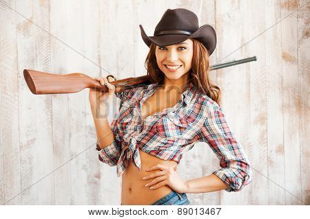 Cowgirl With Gun.