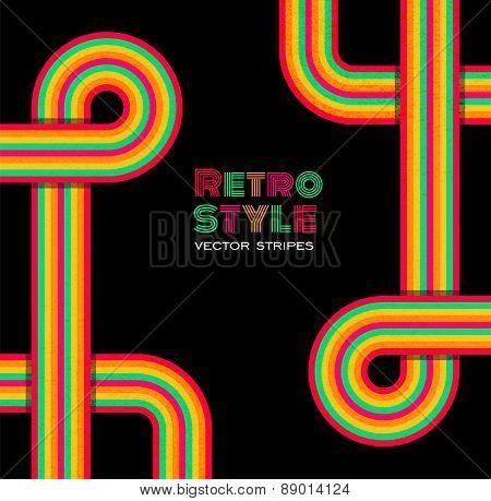 Disco retro background.