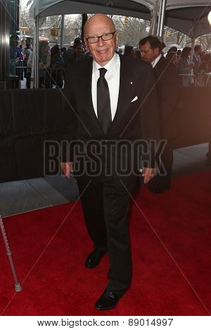 NEW YORK-APR 21: Rupert Murdoch attends the 2015 Time 100 Gala at Frederick P. Rose Hall, Jazz at Lincoln Center on April 21, 2015 in New York City.