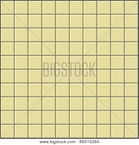 wall background with ivory yellow tiles pattern