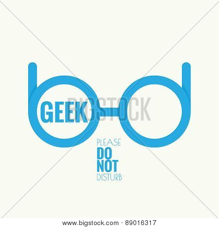 Geek glasses icon