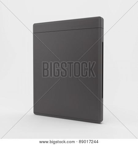 Blank DVD-case or CD-case. 3d vector illustration. Can be used for advertising, marketing, presentation.