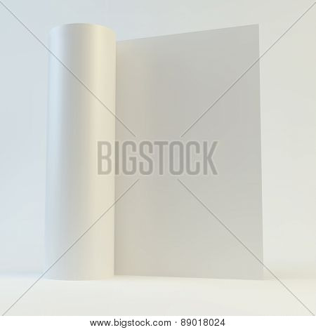 Blank page template for design layout. 3d vector illustration. A4 business blank.