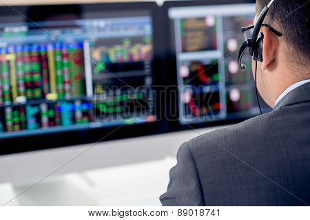 Businessman in headset