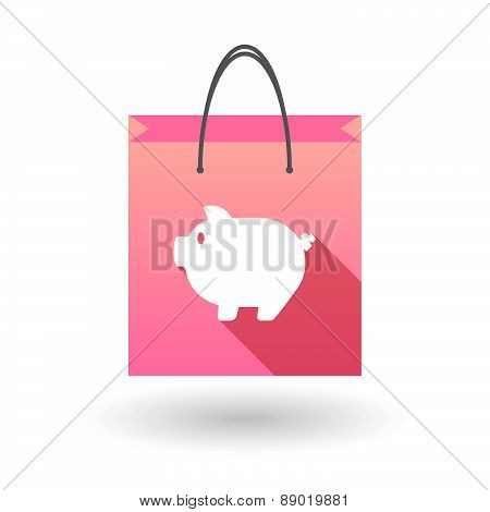 Shopping Bag Icon With A Pig