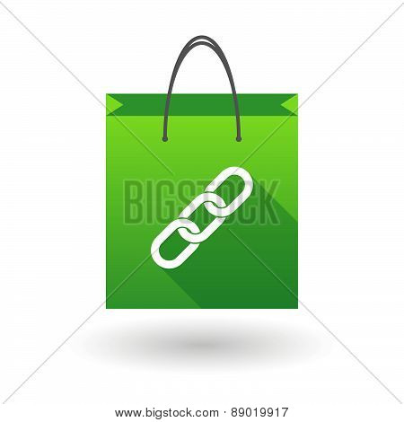 Shopping Bag Icon With A Chain