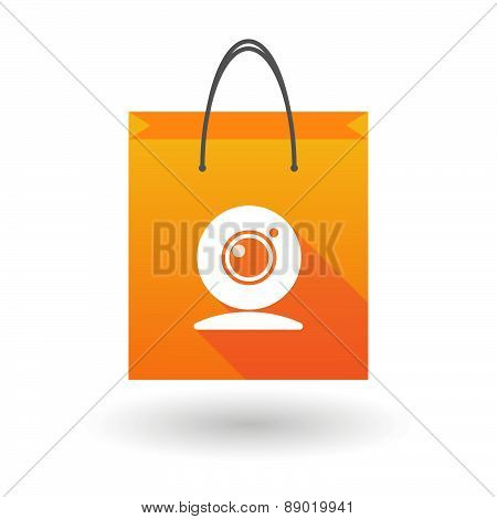 Shopping Bag Icon With A Web Cam