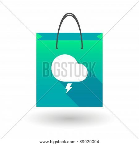 Shopping Bag Icon With A Stormy Cloud