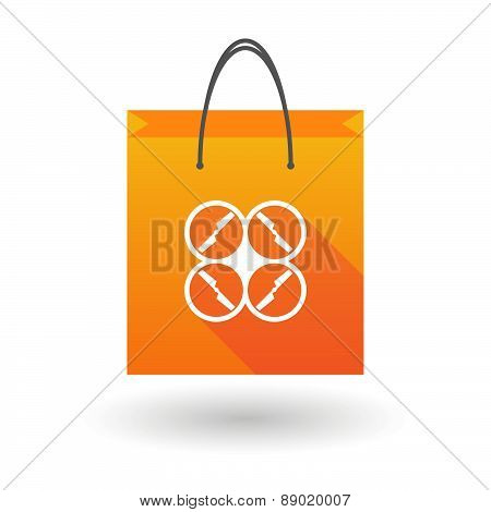 Shopping Bag Icon With A Drone