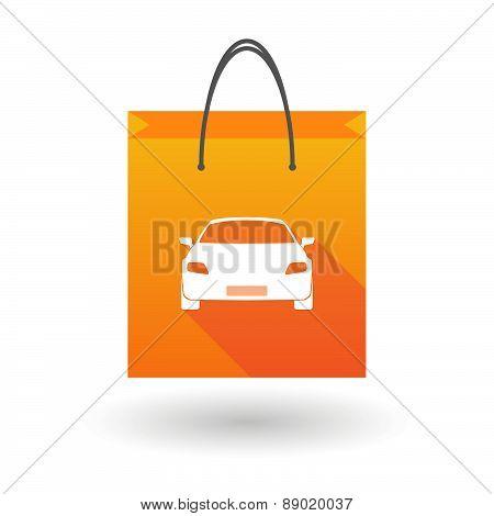 Shopping Bag Icon With A Car