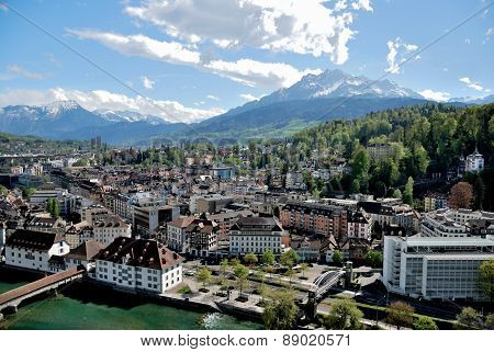 Luzern Panorama, Switzerland.