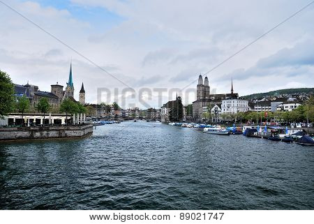 Townscape Of Zurich, Switzerland.