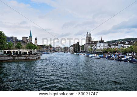Townscape Of Zurich, Switzerland.