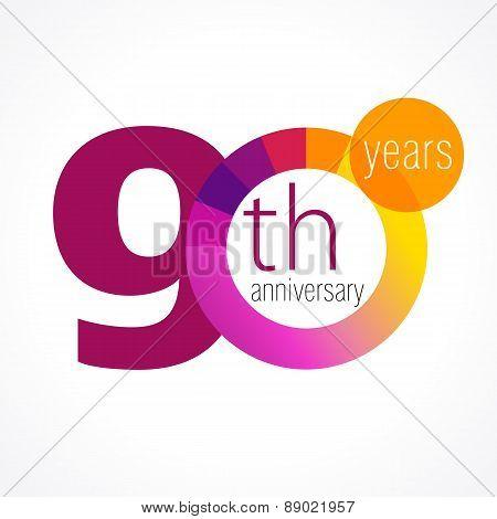 90 anniversary chart logo