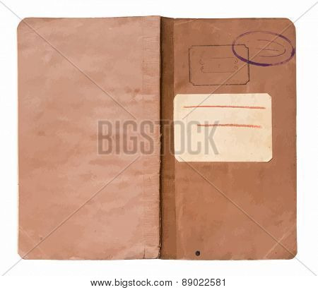 old note book isolated, vector