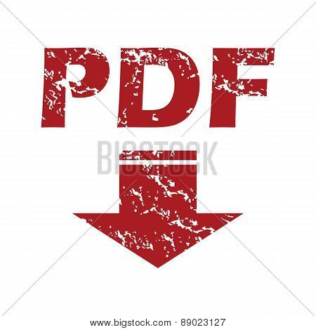 Red grunge pdf download logo