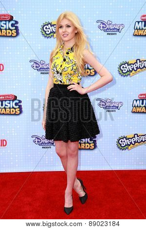 LOS ANGELES - FEB 25:  Katherine McNamara at the Radio DIsney Music Awards 2015 at the Nokia Theater on April 25, 2015 in Los Angeles, CA