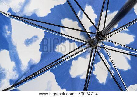 Internal Mechanism Of A Folding Umbrella
