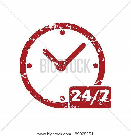 New red grunge clock logo