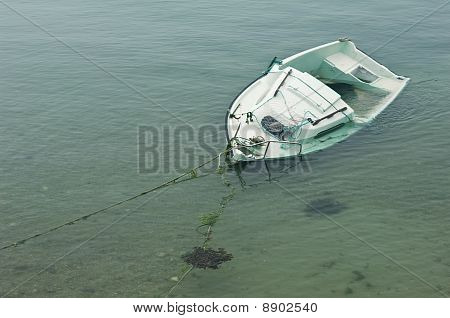 Shipwreck on a sandbank
