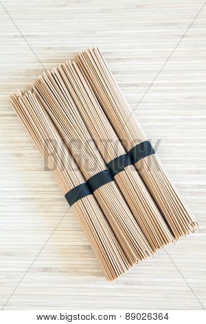 Bundles Of Buckwheat Soba Noodles