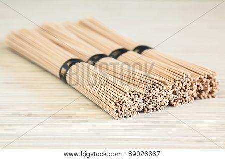 Close-up Buckwheat Soba Noodles