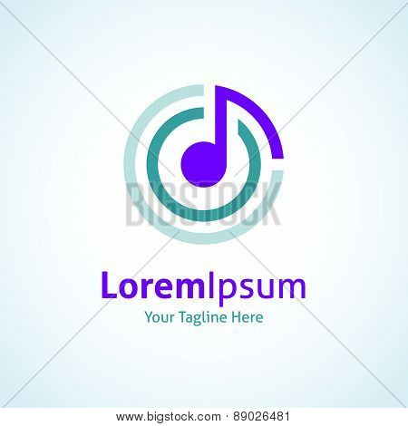 Music connecting the world vector logo icon