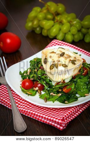 Salad With Baked Goat's Cheese