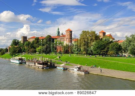 Wawel Royal Castle in Cracow, Poland.