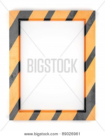 Blank Striped Metal Frame