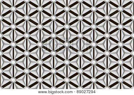 Black And White Seamless Diamond Facets Pattern