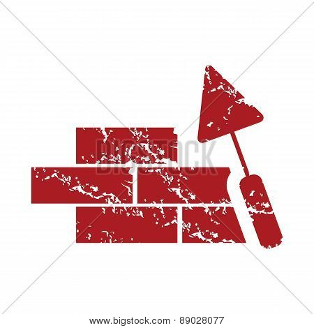 Red grunge building logo