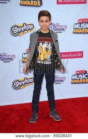 LOS ANGELES - APR 25:  J.J. Totah at the Radio DIsney Music Awards 2015 at the Nokia Theater on April 25, 2015 in Los Angeles, CA