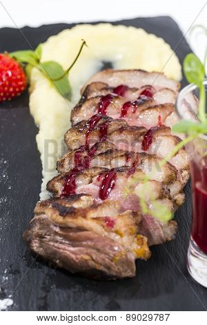 roasted goose breast