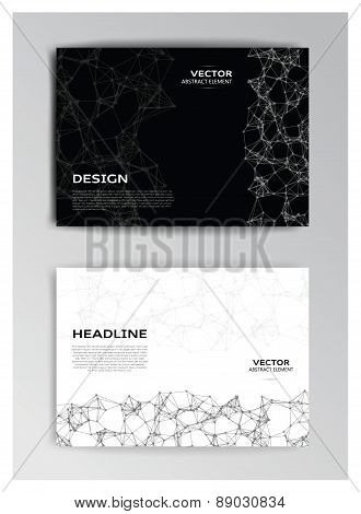 Horizontal Template Of Brochure With Abstract Elements