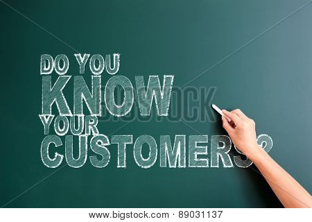 writing do you know your customer on blackboard