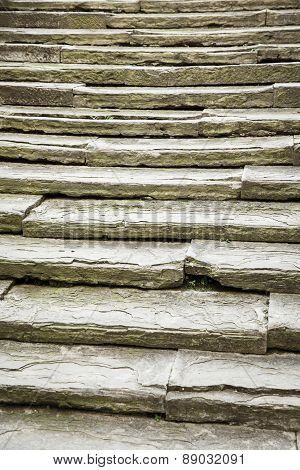 Unique, Ancient, Solid Stone Stairs
