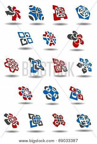 Abstract business icons and symbols templates