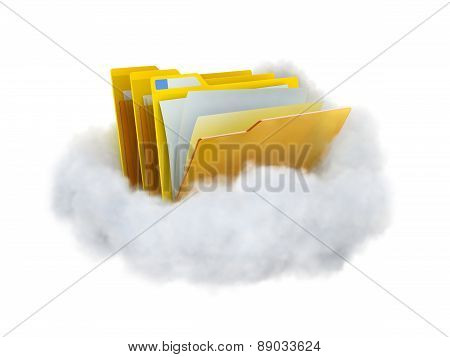 Folders In A Cloud.