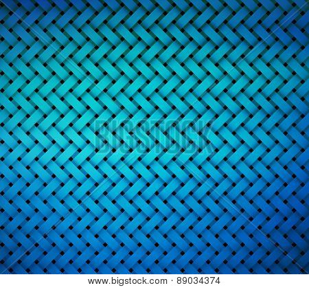 Pattern Brick Shape Middle Blue