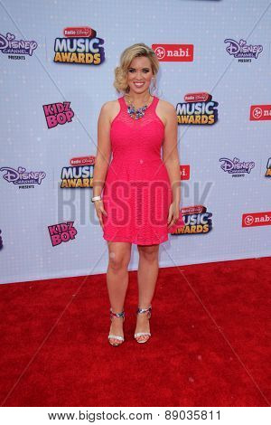 LOS ANGELES - APR 25:  Kristin Coleman at the Radio DIsney Music Awards 2015 at the Nokia Theater on April 25, 2015 in Los Angeles, CA