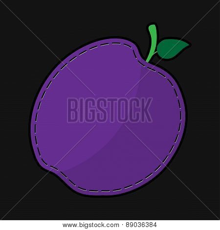 Seam Violet Plum With Shadow