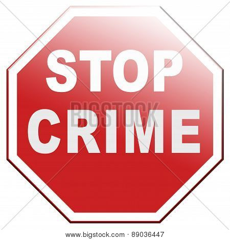 Stop Crime Sign