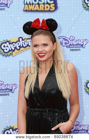 LOS ANGELES - APR 25:  Alli Simpson at the Radio DIsney Music Awards 2015 at the Nokia Theater on April 25, 2015 in Los Angeles, CA
