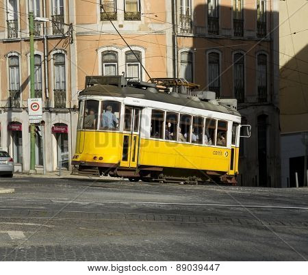 Lisbon Tram In Bairro Alto District, Lisbon.